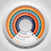 Circle Meter Bar Infographic