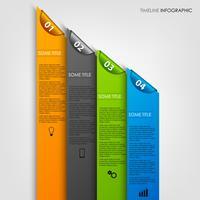 Graphique d'informations avec modèle de rayures et de signets de couleur