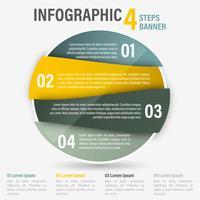 Banner di quattro passaggi di infografica.