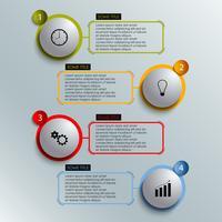 Informationsgraphik färbte runde Elementarbeitsschablone