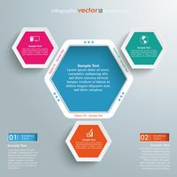 trou hexagonal infographie 3 options