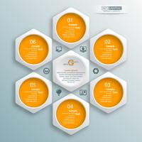 Résumé infographie papier 3D. Business template. Illustration vectorielle