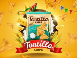 Annunci di tortilla chips