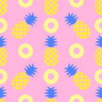 Pop Art Pineapple Seamless Pattern vector