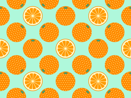 Frutta arancione Pop Art Vector Background