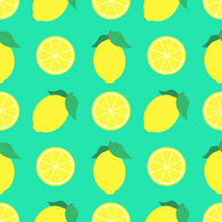 Summer Lemons Seamless Pattern Background vector