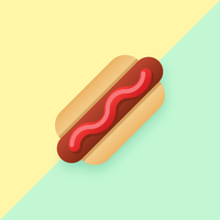 Hotdog Pop cor de fundo Vector