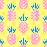 Summer Pineapple Seamless Pattern