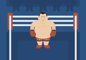 Heavyweight Boxer in the Ring vector