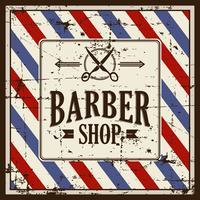 Enseigne de barbier grunge vecteur