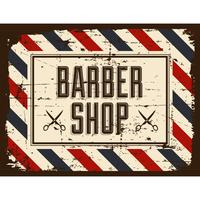 Barber Shop Sign Retro