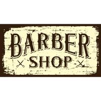 B&W Barber Shop Sign