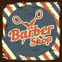 Enseigne Vintage Barber Shop vecteur