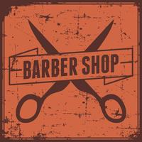 Orange Barber Shop Sign