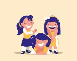 cute little girls happy avatar character