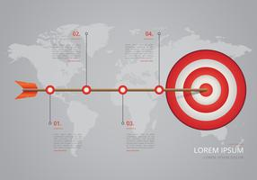 Timeline on Target Steps Infographic