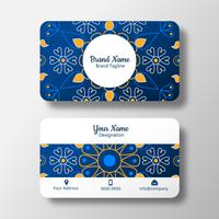 Floral Abstract Mandala Business Card vector