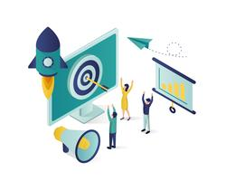 business promotion isometric illustration