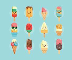 Personaggi di gelato kawaii