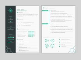 Clean and Minimal Professional Resume CV Template