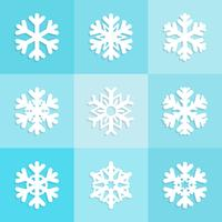 Snowflakes icons set design, Christmas  winter collection