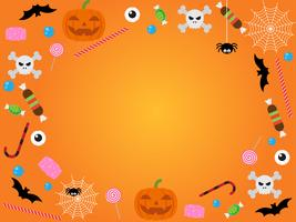 Halloween ikon mönster