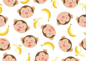 Monkeys Bananas Pattern