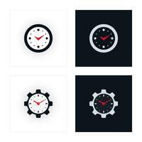 Icone dell'orologio minimal