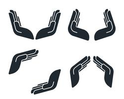Protective hand icons