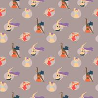 Body Positive Seamless Creative Pattern vector