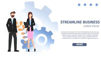 Diverses carrières Business Streamline Character Set