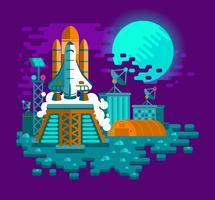 Illustration av en raket som tar fart