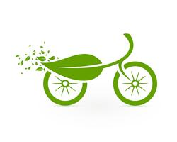 Ícone de ciclismo ecológico