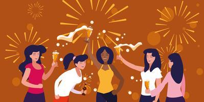 kvinnliga party avatar karaktär