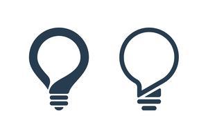 Icone della lampadina con il fumetto