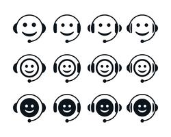 Call center emoticon symbolen