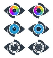 Abstract eye icons