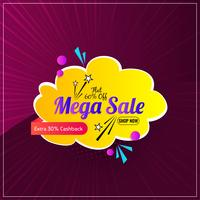 Colorful mega sale promotional graphic