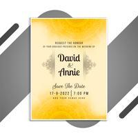 Gelbe Mandala-Hochzeitseinladung