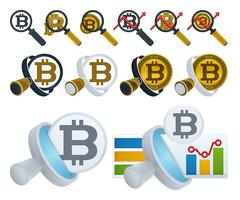 Loupe et bitcoins