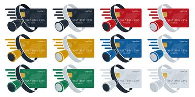 Magnifying glass and credit card icons