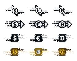 Fast money transfer icons
