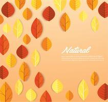 Modèle de feuilles d'automne
