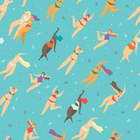 Motivational Body Positive Flat Seamless Pattern
