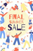 Advertising Poster Final Summer Sale Lettering. vector