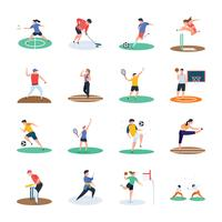 Set Of Sports Player Icons