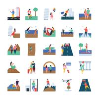 Travel and Picnic Icon Set