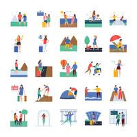 Travel and Tourists Icon Set