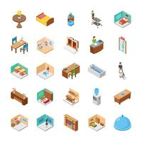 Hotel Isometric Vectors Pack