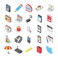 Paquete de vectores móviles y web